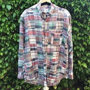 Brooks Brothers madras plaid shirt. Sz M.
